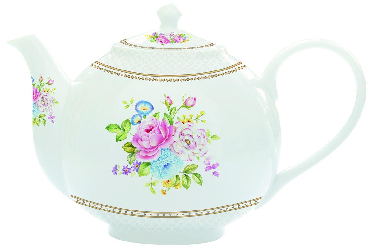 Чайник заварочный Nuova R2S Акварель, с ситом, 1 л1160WHITИзящный и элегантный чайник Nuova R2S Акварель изготовлен из высококачественного фарфора. Съемный фильтр из металла позволит быстро и легко очистить чайник. Заварочный чайник Nuova R2S Акварель станет великолепным подарком для любителей чая.