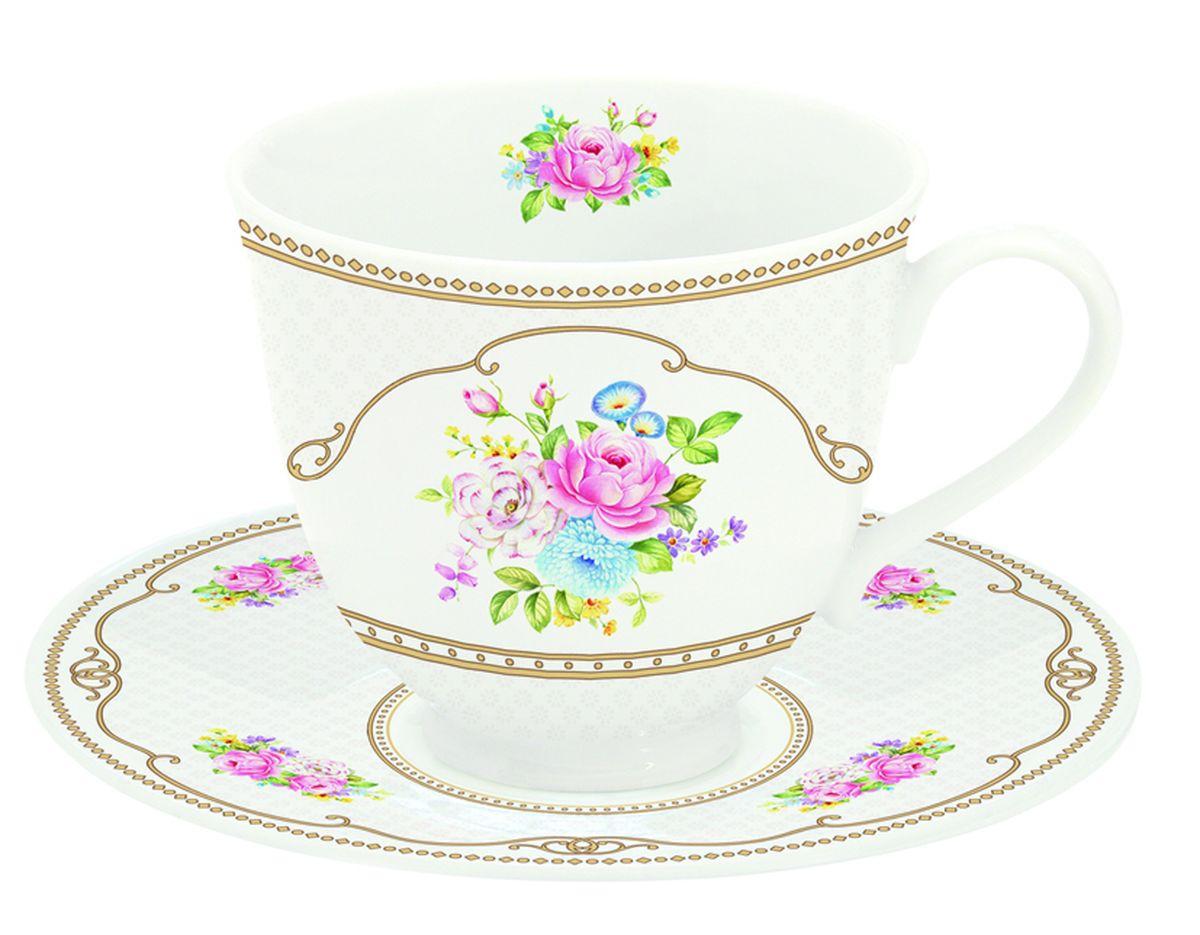 Чайная пара Nuova R2S Акварель, 2 предмета1166WHITЧайная пара Nuova R2S Акварель состоит из чашки и блюдца, изготовленных из высококачественного фарфора. Изделия оформлены оригинальным изображением и имеют изысканный внешний вид. Такой набор прекрасно дополнит сервировку стола к чаепитию и подчеркнет ваш безупречный вкус. Объем чашки: 80 мл.