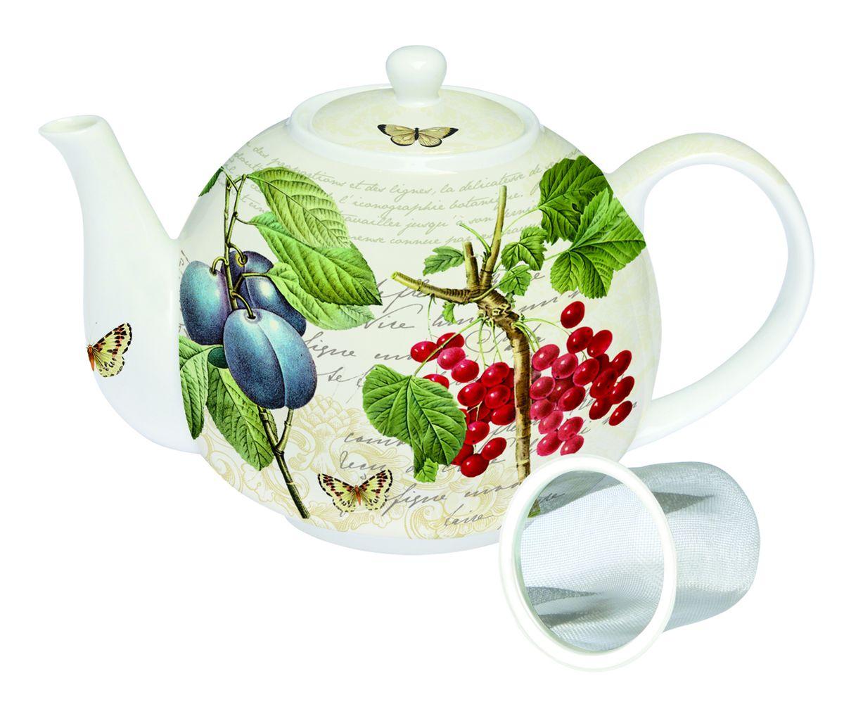 Чайник заварочный Nuova R2S Смородина Ботаника, с ситечком, 1 л197BACB