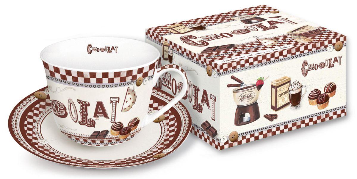 Чайная пара Nuova R2S Шоколадное фондю, 2 предмета251FONDЧайная пара Nuova R2S Шоколадное фондю состоит из чашки и блюдца, изготовленных из высококачественного фарфора. Изделия оформлены оригинальным изображением и имеют изысканный внешний вид. Такой набор прекрасно дополнит сервировку стола к чаепитию и подчеркнет ваш безупречный вкус. Объем чашки: 400 мл.