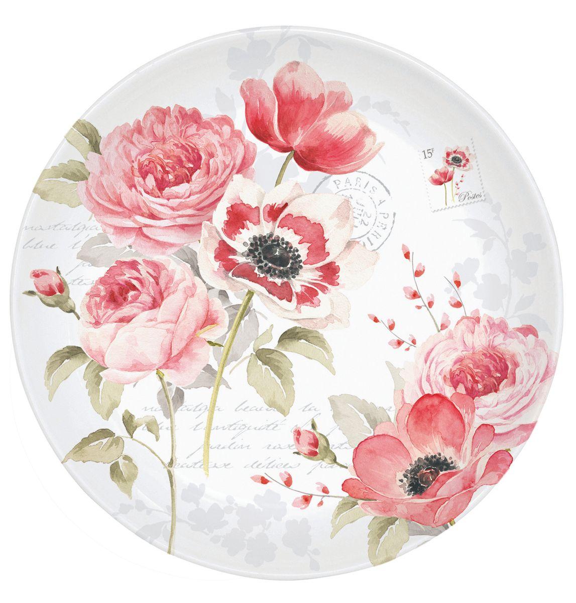 Блюдце Nuova R2S Пионы, диаметр 10 см338FLWDБлюдце Nuova R2S Пионы выполнено из высококачественного фарфора. Изделие оформлено цветочным рисунком и надписями. Изящное блюдце не только красиво оформит стол к чаепитию, но и станет прекрасным подарком друзьям и близким. Диаметр блюдца: 10 см.