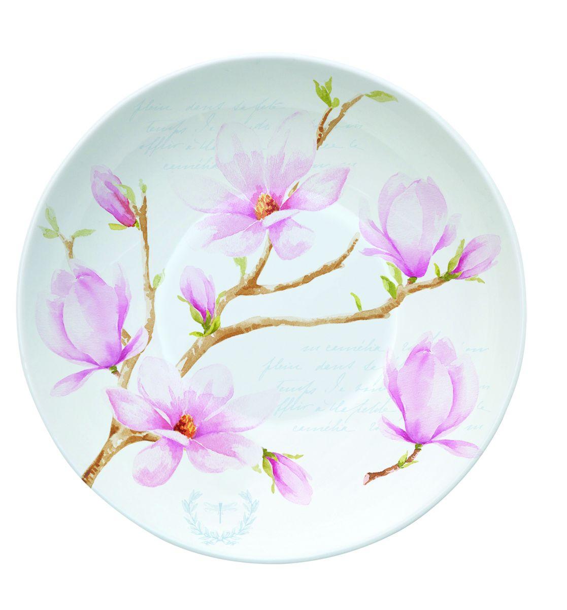 Блюдце Nuova R2S Розовая магнолия, диаметр 10 см338MAGNБлюдце Nuova R2S Розовая магнолия выполнено из высококачественного фарфора. Изделие оформлено цветочным рисунком. Изящное блюдце не только красиво оформит стол к чаепитию, но и станет прекрасным подарком друзьям и близким. Диаметр блюдца: 10 см.