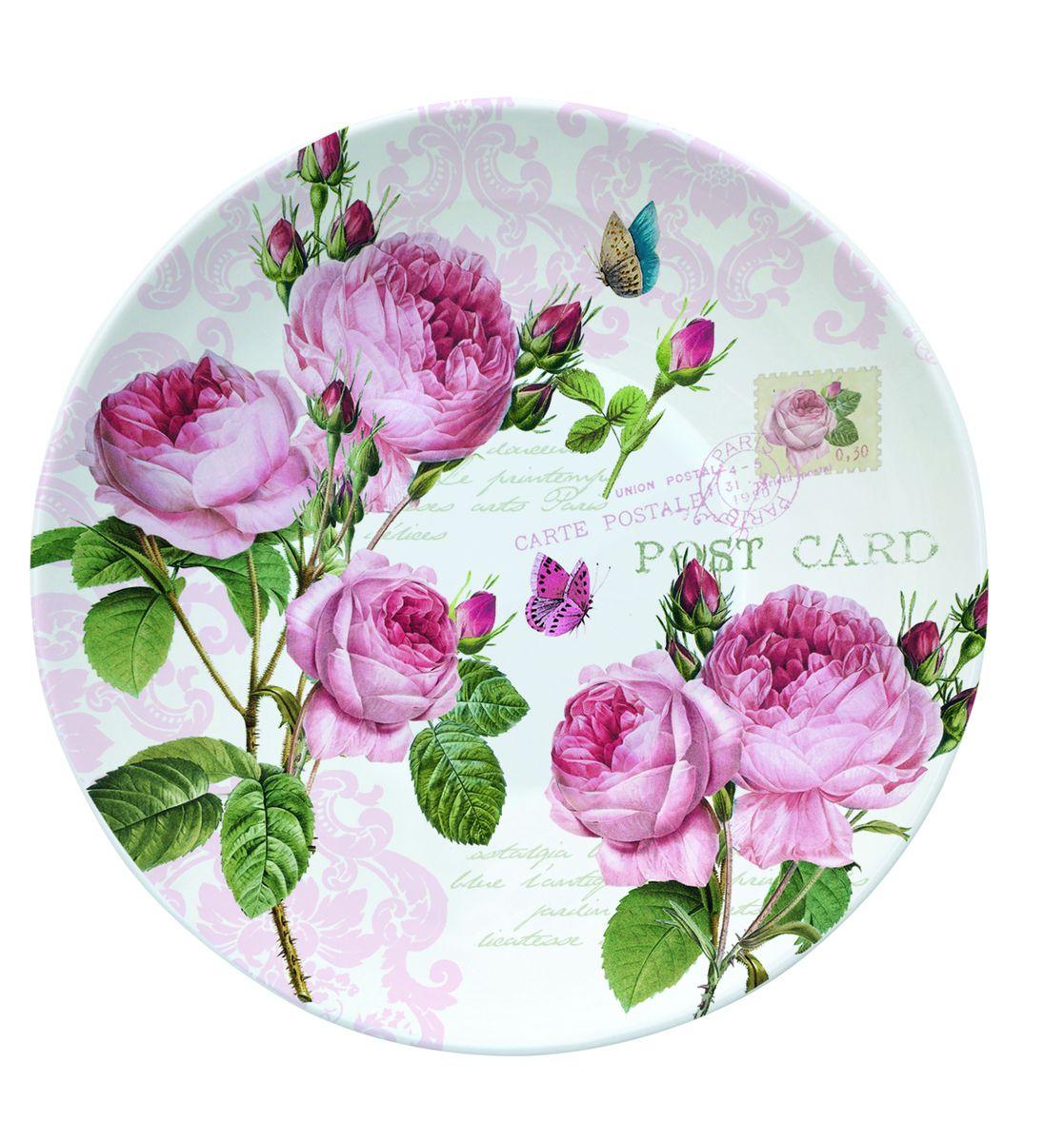 Блюдце Nuova R2S Романтические розы, диаметр 10 см338RMRБлюдце Nuova R2S Романтические розы выполнено из высококачественного фарфора. Изделие оформлено изображением роз. Изящное блюдце не только красиво оформит стол к чаепитию, но и станет прекрасным подарком друзьям и близким. Диаметр блюдца: 10 см.