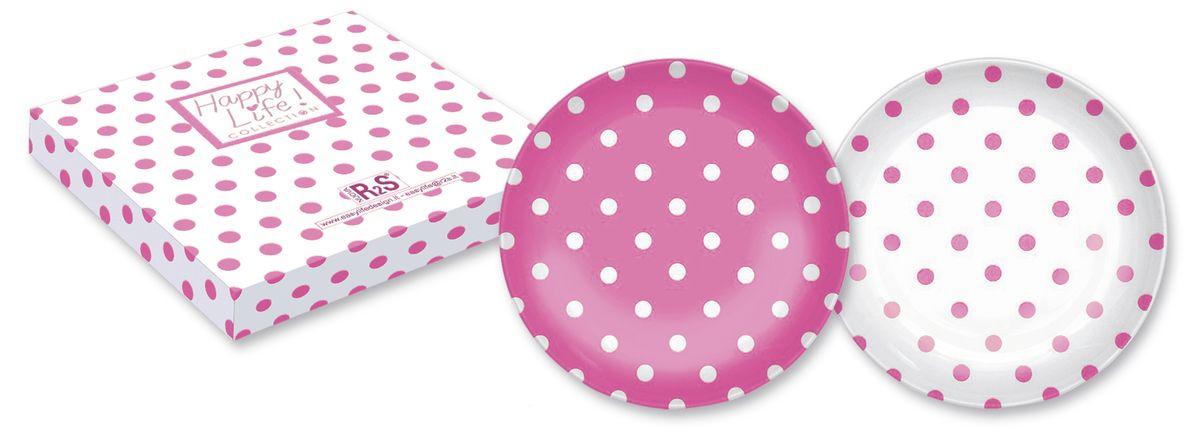 Набор десертных тарелок Nuova R2S Горошек, цвет: розовый, белый, диаметр 21 см, 2 шт370POIPНабор Nuova R2S Горошек состоит из двух десертных тарелок, выполненных из высококачественного фарфора. Изделия декорированы оригинальным принтом в горошек. Тарелки имеют круглую форму. Такой набор изящно украсит сервировку стола и порадует вас изящным дизайном. Диаметр (по верхнему краю): 21 см.