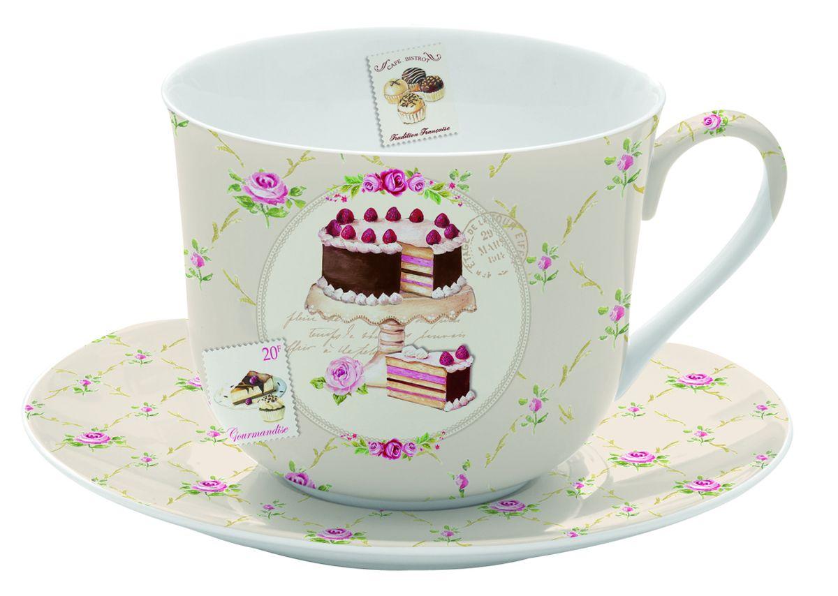 Чайная пара Nuova R2S Маффины, 2 предмета628SWEEЧайная пара Nuova R2S Маффины состоит из чашки и блюдца, изготовленных из высококачественного фарфора. Изделия оформлены оригинальным изображением и имеют изысканный внешний вид. Такой набор прекрасно дополнит сервировку стола к чаепитию и подчеркнет ваш безупречный вкус. Объем чашки: 400 мл.
