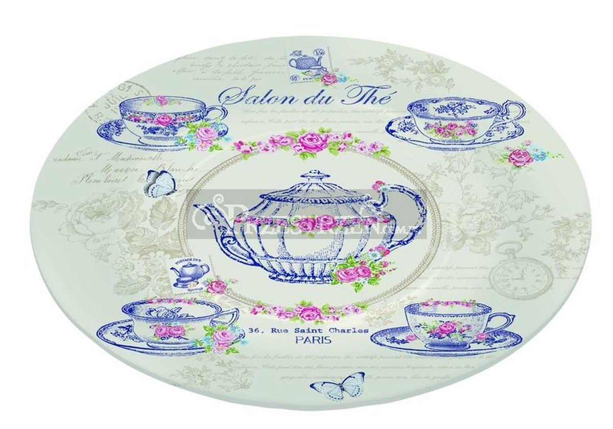 Блюдо Nuova R2S Чайный салон , стекло, диаметр 15 см636SDTH