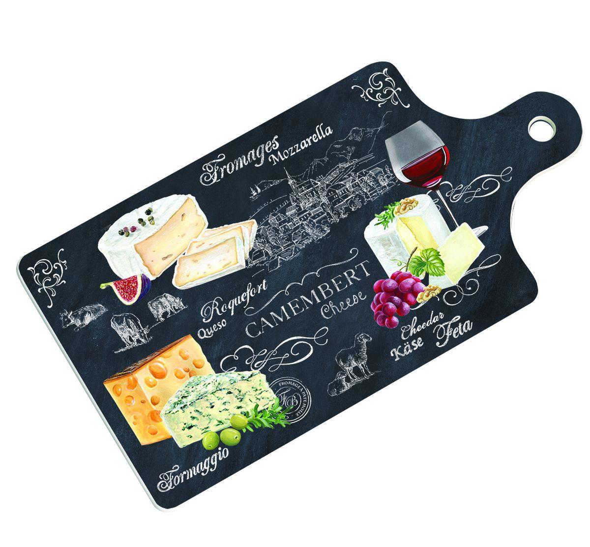 Доска для сервировки Nuova R2S Мир сыра, 34,5 х 18 см898WOCHДоска Nuova R2S Мир сыра выполнена из высококачественного фарфора. Изделие обеспечит удобство при нарезке продуктов, а также красиво оформит подачу блюд. Доска оснащена специальным отверстием для подвешивания. Доска для сервировки Nuova R2S Мир сыра станет незаменимым аксессуаром на любой кухне. Размер доски: 34,5 х 18 см.