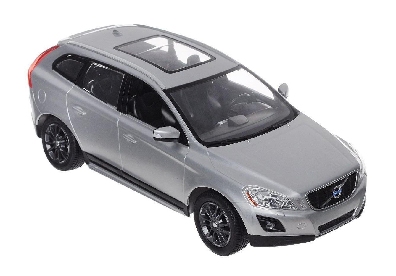 Rastar Радиоуправляемая модель Volvo XC60 цвет серебристый31600Радиоуправляемая модель автомобиля Rastar Volvo XC60 в точности повторяет настоящий автомобиль в масштабе 1:14. Легко управляется: назад-вперед, влево-вправо, включающиеся передние и задние фары, дальность управления 15-30 метров, развиваемая скорость 7-12 км/час.