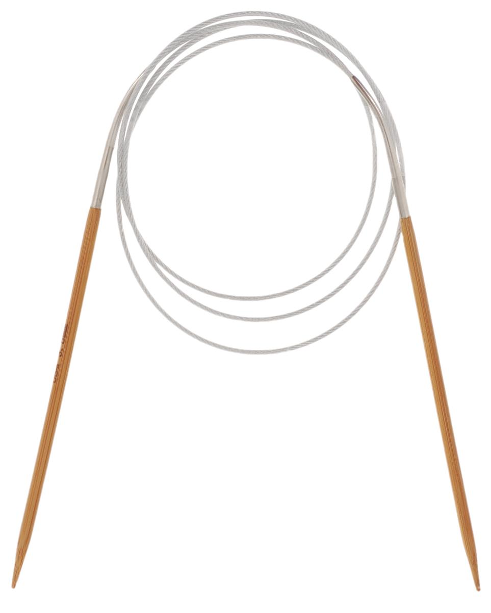 Спицы Hobby&Pro, бамбуковые, круговые, диаметр 3,5 мм, длина 100 см7709146Спицы для вязания Hobby&Pro изготовлены из натурального бамбука. Кончики спиц закругленные. Спицы скреплены гибким пластиковым шнуром. Круговые спицы наиболее удобны для выполнения деталей и изделий, не имеющих швов. Короткими круговыми спицами вяжут бейки горловины, воротники-гольф, длинными спицами можно вязать по кругу целые модели. Спицы прочные, легкие, гладкие, удобные в использовании. Вы сможете вязать для себя, делать подарки друзьям. Рукоделие всегда считалось изысканным, благородным делом. Работа, сделанная своими руками, долго будет радовать вас и ваших близких.