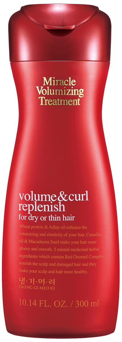 DaengGiMeоRi Кондиционер для объема волос Miracle, 300 мл8807779045933Кондиционер бережно ухаживает за кожей головы так как не содержит компоненты,способные вызвать раздражение. Экстракты лекарственных трав максимально положительно влияют на здоровье волос и кожи головы. Комплекс лекарственных трав, который включает отвар красного женьшеня, хризантему сибирскую, корень пиона, гранат придают эластичность и сияние. Протеин пшеницы и масло коикса создают непревзойденный объем. Масло камелии и масло семян макадамии придают блеск и гладкость волосам. Протеины пшеницы и протеин шелка содержат различные аминокислоты, которые значительно улучшают качество и текстуру волос, Активные компоненты кондиционера увлажняют и контролируют phбаланс, чтобы предотвратить повреждения. Защищают волосы от негативного воздействия: частые сушки и укладки горячими средствами