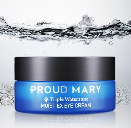 Proud Mary Увлажняющий крем для кожи вокруг глаз Triple Waterzone, 25 мл8809248456035Серия средств Triple Waterzone содержит 3 вида воды: из морской скважины с глубины 200м в Южной Корее, ледниковая вода из Исландии, минеральная вода из Италии. Вода интенсивно увлажняет кожу и насыщает её минералами, микро и макроэлементами и кислородом. 9 видов растительных экстрактов в составе серии повышают эластичность и упругость кожи лица, восстанавливают естественный уровень увлажненности. Крем для кожи вокруг глаз борется с первыми признаками старения. Морской коллаген в составе средства устраняет мелкие морщинки и придает упругость коже.