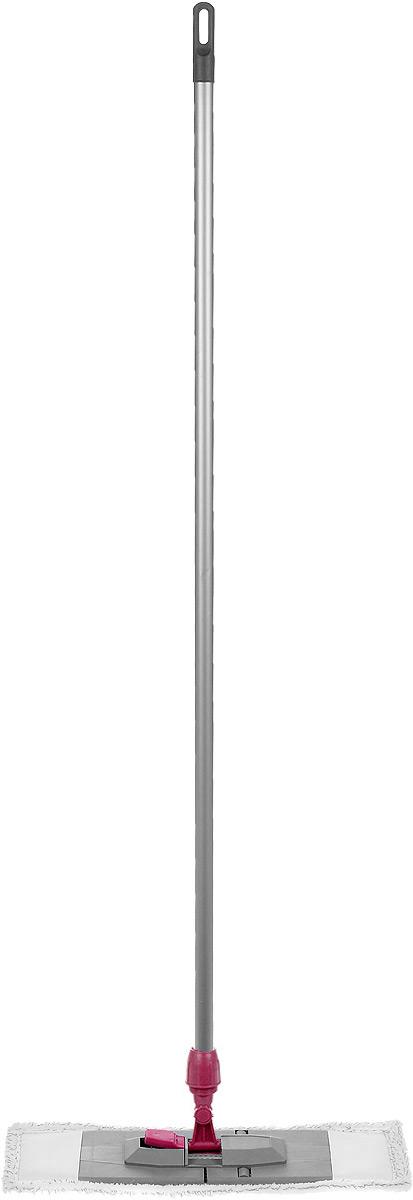 Швабра Мир чистоты Универсальная, с рукояткой, длина 120 смST007-EZ003-KS006Швабра Мир чистоты Универсальная с насадкой из микрофибры широко используется для сухой и влажной уборки любых напольных поверхностей. Благодаря уникальным свойствам микрофибры сухая насадка легко удаляет пыль и в три раза лучше впитывает влагу, чем обычный хлопок. Основание швабры складывается, что позволяет легко снять насадку. Изделие оснащено удобной рукояткой. Швабра Мир чистоты Универсальная со складывающим основанием - лучший помощник в доме! Длина швабры: 120 см. Размер насадки: 45 х 14 х 2 см.