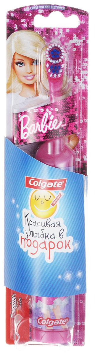 Colgate Зубная щетка Barbie, электрическая, с мягкой щетиной, цвет: розовый, сиреневыйFCN10038_розовый, сиреневыйColgate Зубная щетка Barbie, электрическая, с мягкой щетиной