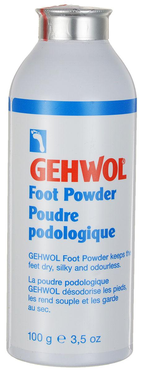 Gehwol Fuss-Puder - Пудра для ног 100 гр1*24806Пудра для ног Геволь (Gehwol Fuss-Puder) поддерживает ноги в сухом, эстетичном состоянии и придает им приятный запах. Специальная пудра с дезинфицирующими активными веществами предотвращает грибковые заболевания ног, обладает чистым и приятным запахом. Вы сможете пользоваться Пудрой для ног Геволь также распыляя ее на чулки или носки. Назначение: Смягчает кожу, помогает содержать ноги сухими. Придает коже ощущение бархатности и нежности. Обладает противогрибковым действием. Активные компоненты: тальк, оксид цинка, оксид кремния, триклозан, эвкалиптовое масло, розмариновое масло.