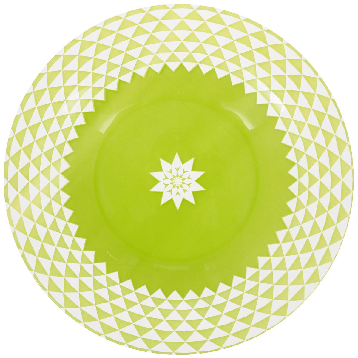 Тарелка глубокая Luminarc Lance, диаметр 21,5 смJ2739Глубокая тарелка Luminarc Lance выполнена из ударопрочного стекла и украшена геометрическим рисунком. Она прекрасно впишется в интерьер вашей кухни и станет достойным дополнением к кухонному инвентарю. Тарелка Luminarc Lance подчеркнет прекрасный вкус хозяйки и станет отличным подарком. Можно мыть в посудомоечной машине и использовать в микроволновой печи. Диаметр тарелки по верхнему краю: 21,5 см. Высота стенки: 3,2 см.