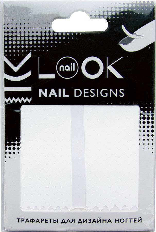 nailLOOK Трафареты для дизайна ногтей Tip Guides белый50219Самоклеящиеся трафареты используются для создания необычных дизайнов.