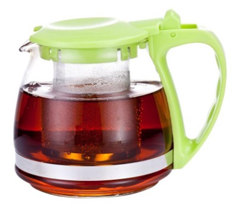 Чайник заварочный МФК-профит, стеклянный, цвет: зеленый, 700 мл8070-1