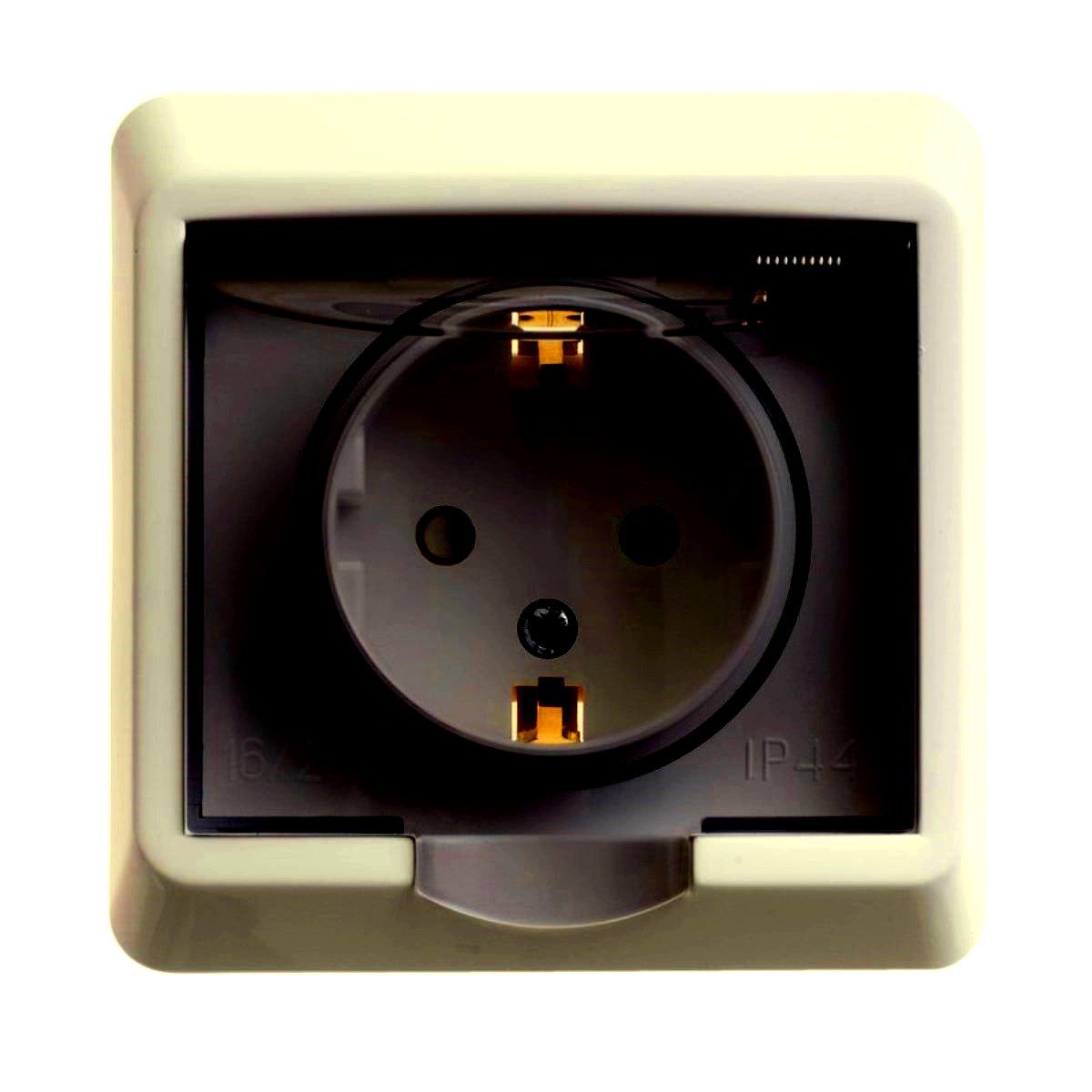 Розетка одинарная Schneider Electric Этюд, с крышкой, цвет: кремовыйPC16-044KОдинарная розетка Schneider Electric Этюд с заземляющим контактом, со шторками, скрытой установки. Розетка снабжена прозрачной защитной крышкой.