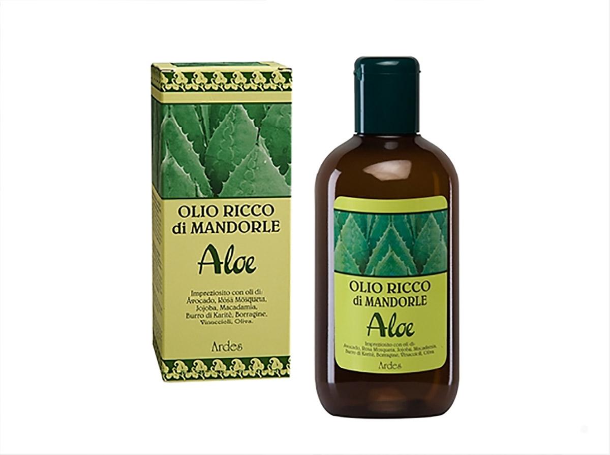 Ardes Масло обогащенное миндалем и Алое для лица, тела, волос, 250 мл. Olio Ricco di Mandorle Aloe LINEA RICCA ALOENLV881250Шелк для Вашей кожи. Оказывает успокаивающеедействие, укрепляющее, от растяжек, от морщин, питательное действие после солнца и после ванной, идеально подходит для массажа, оказывает защищающее действие от внешних факторов. Подходит для всехз типов кожи, как для деликатной и нежной кожи младенца так и для беременной женщины.