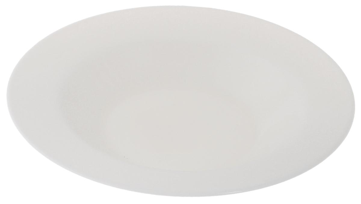 Тарелка глубокая Luminarc Presidence Bone, диаметр 23 смG9291Глубокая тарелка Luminarc Presidence Bone выполнена из высококачественного стекла. Изделие сочетает в себе изысканный дизайн с максимальной функциональностью. Она прекрасно впишется в интерьер вашей кухни и станет достойным дополнением к кухонному инвентарю. Глубокая тарелка Luminarc Presidence Bone подчеркнет прекрасный вкус хозяйки и станет отличным подарком. Диаметр тарелки (по верхнему краю): 23 см. Высота стенки: 3,8 см.
