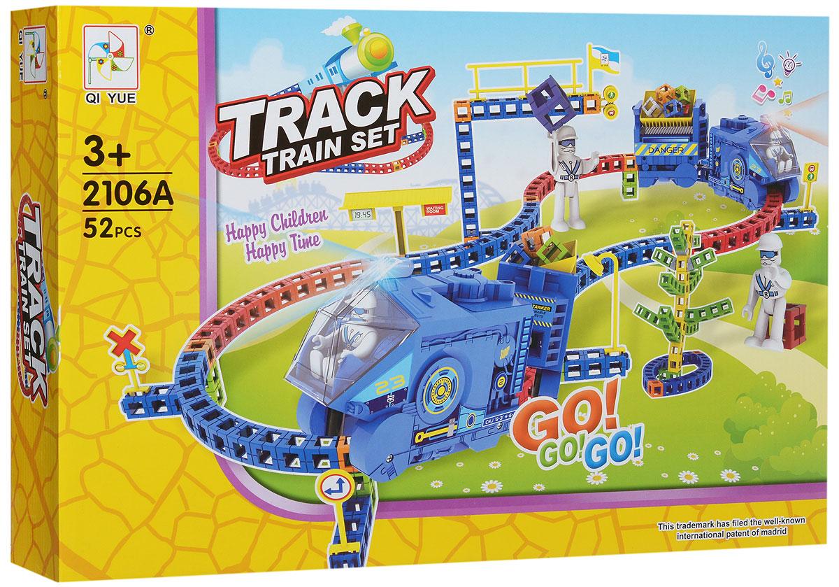 Bradex Конструктор Track Train SetDE 0093Смотреть на то, как движутся колеса состава можно бесконечно долго. Наблюдать за паровозиком гораздо интереснее, если вы его построили сами. Постройте вместе с ребенком свою первую железную дорогу и запустите по ней свой первый состав. Конструктор Bradex Track Train Set развивает моторику ребенка и стимулирует его креативность. Маленький мечтатель сможет не просто построить железную дорогу, но и придумать уникальную историю специально для этой станции. Наслаждайтесь конструктором всей семьей. Набор включает 52 пластиковых разноцветных элемента. Необходимо купить 3 батарейки типа АА (не входят в комплект).
