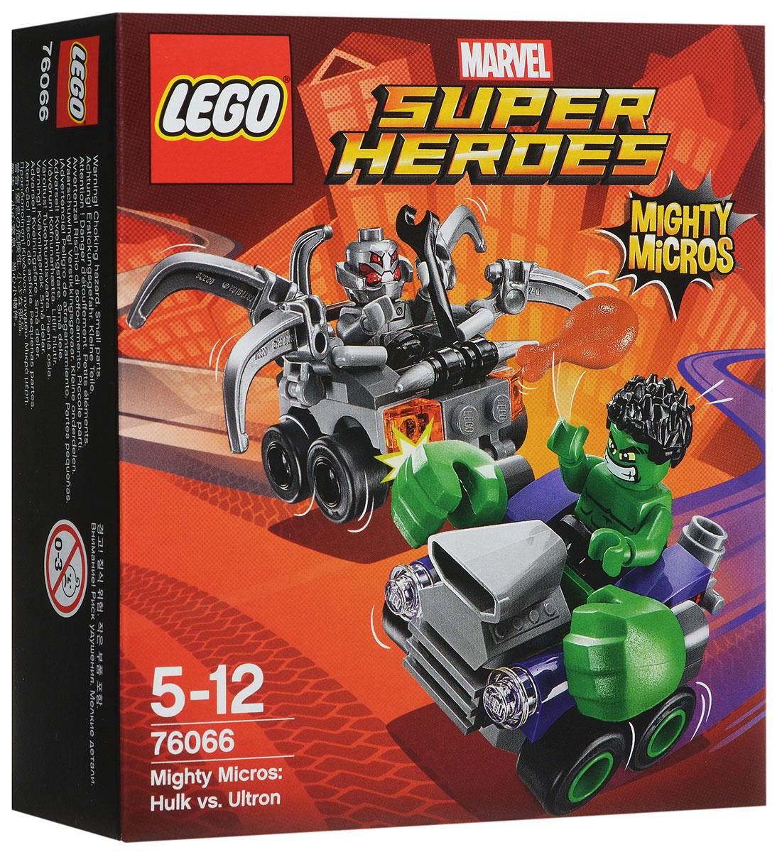 LEGO Super Heroes Конструктор Халк против Альтрона 7606676066Устремитесь на схватку с Альтроном в крутой зеленой машине Халка с огромными кулаками. Отремонтируйте автомобиль Альтрона с помощью гаечного ключа - пусть щупальца движутся вверх и вниз. А потом передохните вместе с Халком и пообедайте куриными ножками. Кто победит? Все зависит от вас! Набор включает в себя 80 разноцветных пластиковых элементов. Конструктор - это один из самых увлекательных и веселых способов времяпрепровождения. Ребенок сможет часами играть с конструктором, придумывая различные ситуации и истории.