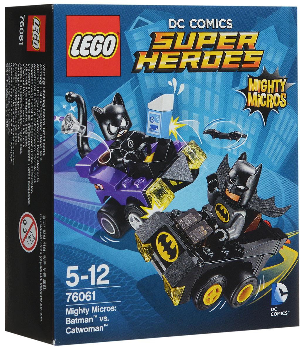 LEGO Super Heroes Конструктор Бэтмен против Женщины-кошки 7606176061Женщина-кошка похитила молоко и бриллиант и скрывается на своем кошачьем автомобиле. Летите за ней в погоню на Бэтмобиле. Запустите Батаранг и не дайте воришке ускользнуть! Набор включает в себя 79 разноцветных пластиковых элементов. Конструктор - это один из самых увлекательных и веселых способов времяпрепровождения. Ребенок сможет часами играть с конструктором, придумывая различные ситуации и истории.