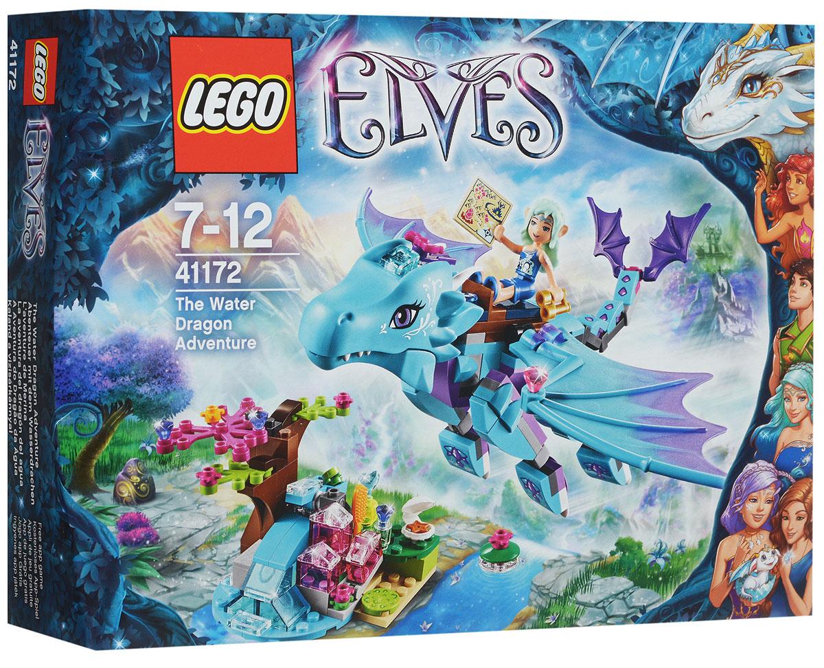 LEGO Elves Конструктор Приключение дракона воды 4117241172Помогите эльфу воды Наиде по прозвищу Сердце реки не упасть со спины Мерины, водяного дракона, пока та облетает Эльфендейл в поисках новых и интересных мест! А пока Наида кормит Мерину, используя свои магические силы воды, чтобы бросать дракону еду, вы исследуйте водопад. Найдите скрытые сокровища в волшебном водопаде и помогите Наиде причесать волосы и испробовать другие магические принадлежности, чтобы привести себя в порядок перед следующим приключением! Набор включает в себя 212 разноцветных пластиковых элементов. Конструктор станет замечательным сюрпризом вашему ребенку, который будет способствовать развитию мелкой моторики рук, внимательности, усидчивости и мышления. Играя с конструктором, ребенок научится собирать детали по образцу, проводить время с пользой и удовольствием.
