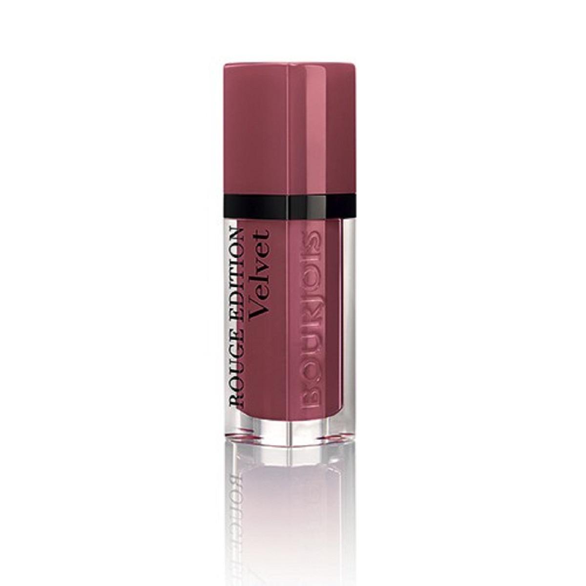 Bourjois Rouge Edition Velvet Бархатный флюид для губ тон 07 6,7 мл29101273007Бархатная воздушная текстура не ощущается на губах Матовая текстура долго держится на губах и имеет насыщенный цвет благодаря чистому пигменту
