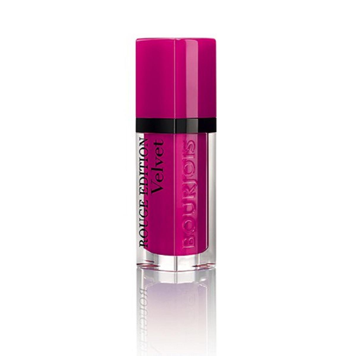 Bourjois Rouge Edition Velvet Бархатный флюид для губ тон 06 6,7 мл29101273006Бархатная воздушная текстура не ощущается на губах Матовая текстура долго держится на губах и имеет насыщенный цвет благодаря чистому пигменту