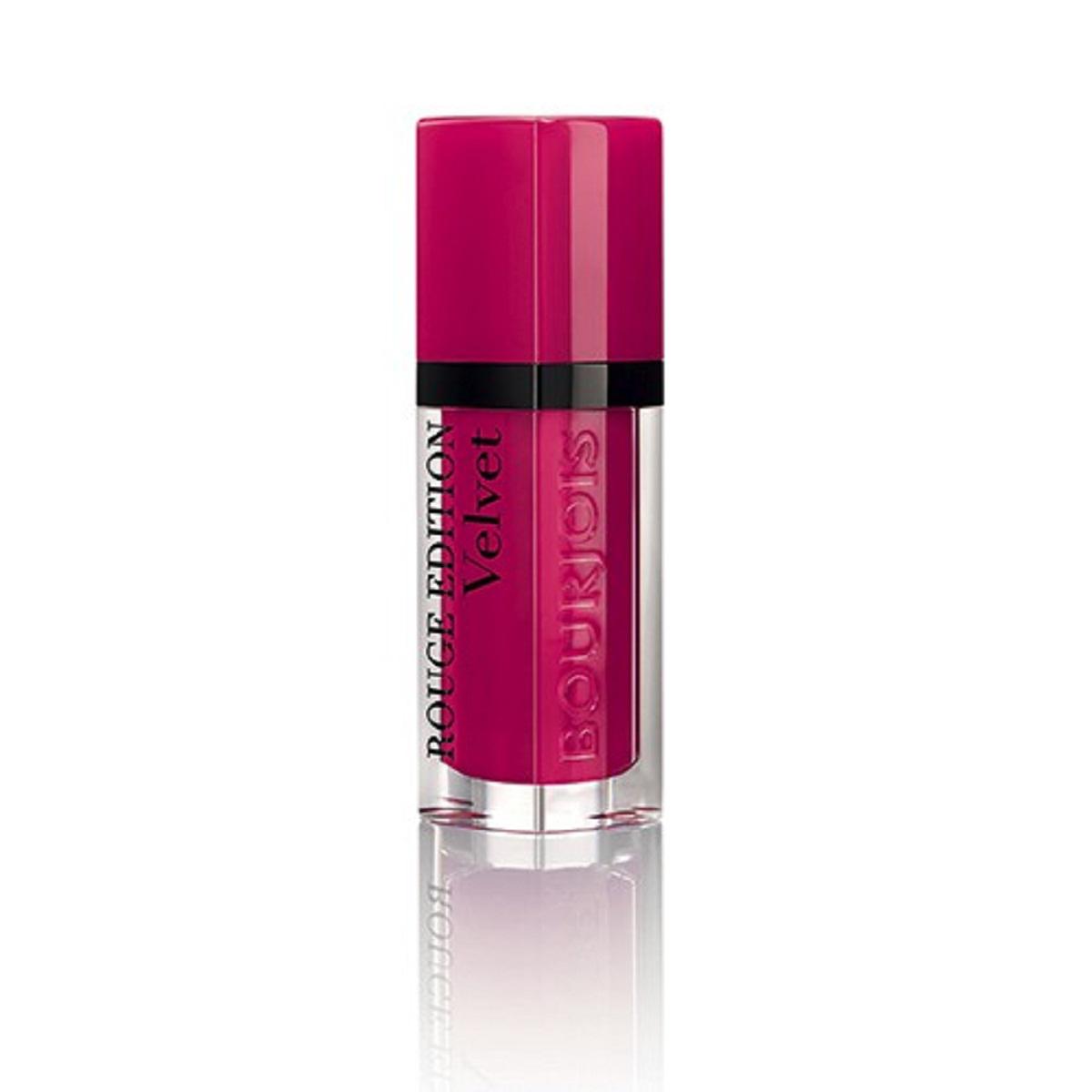 Bourjois Rouge Edition Velvet Бархатный флюид для губ тон 05 6,7 мл29101273005Бархатная воздушная текстура не ощущается на губах Матовая текстура долго держится на губах и имеет насыщенный цвет благодаря чистому пигменту