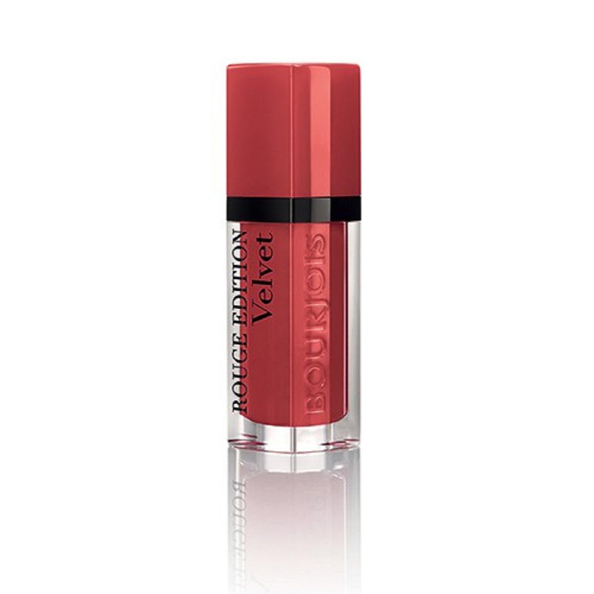 Bourjois Rouge Edition Velvet Бархатный флюид для губ тон 04 6,7 мл29101273004Бархатная воздушная текстура не ощущается на губах Матовая текстура долго держится на губах и имеет насыщенный цвет благодаря чистому пигменту