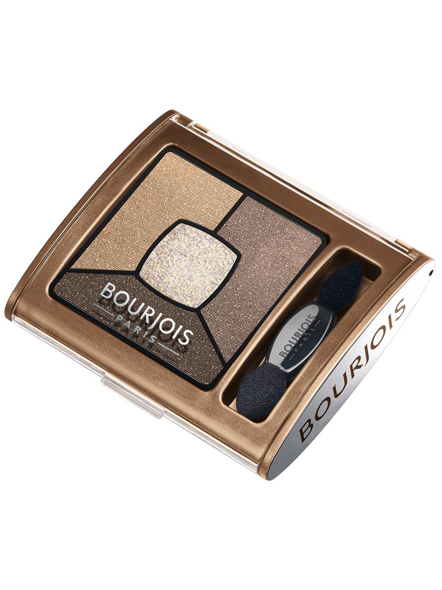 Bourjois Палитра теней для век Smoky Stories Тон 06 upside brown 3 мл29101352006Палетка из четырех оттенков, которые обладают кремово-пудровой текстурой, максимально адаптируются и долго держатся на подвижном веке.
