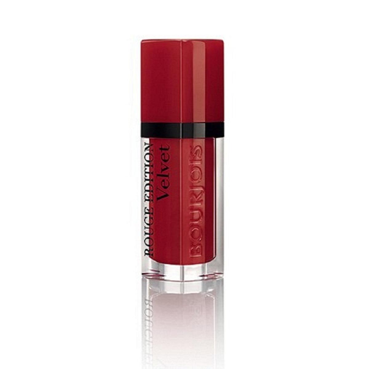 Bourjois Rouge Edition Velvet Бархатный флюид для губ тон 01 6,7 мл29101273001Бархатная воздушная текстура не ощущается на губах Матовая текстура долго держится на губах и имеет насыщенный цвет благодаря чистому пигменту