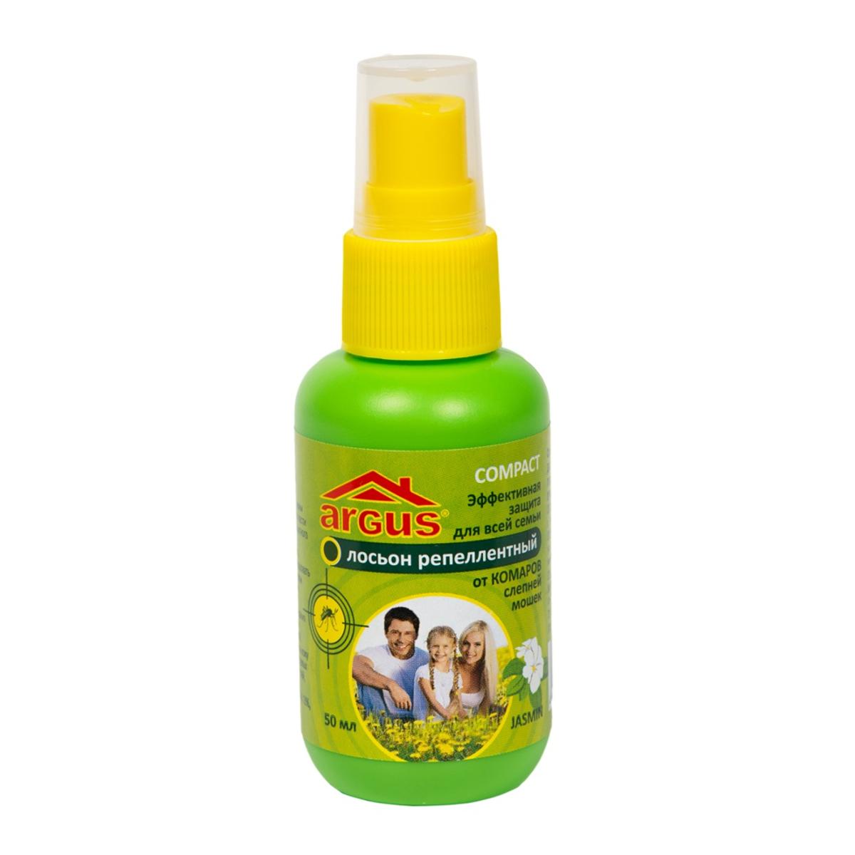 Аэрозоль от насекомых Argus, 50 млСЗ.010014Аэрозоль Argus используется для защиты людей от нападения кровососущих насекомых (комаров, мокрецов, москитов, слепней). Наносится на открытые части тела. Состав: N,N-диэтил-м-толуамид (ДЭТА) 18%, отдушка, спирт изопропиловый.