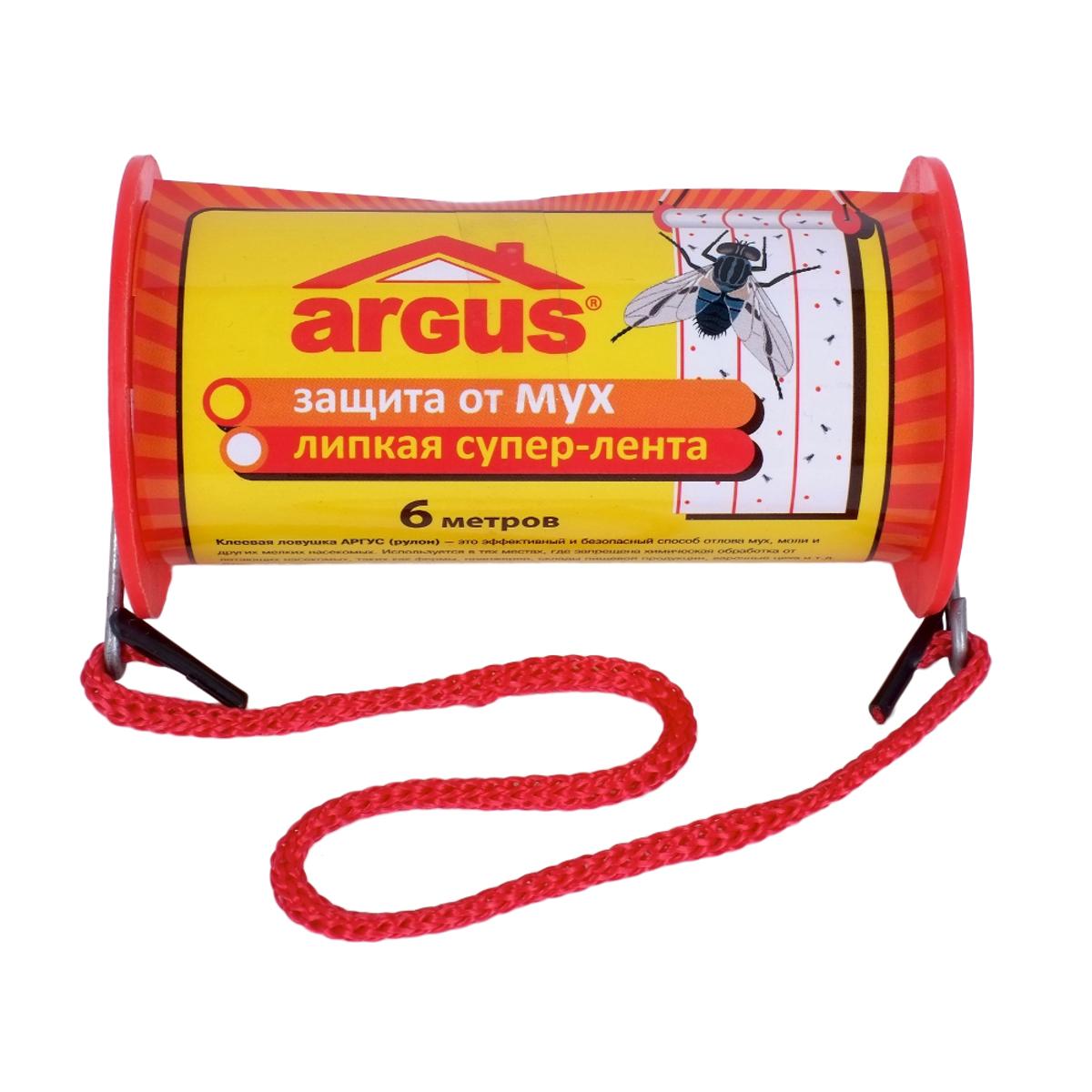 Ловушка клеевая для мух Argus, 600 х 10 смСЗ.030002Клеевая ловушка в рулоне Argus - это эффективный и безопасный способ отлова мух, моли и других мелких насекомых. Используется в тех местах, где запрещена химическая обработка от летающих насекомых, таких как фермы, оранжереи, склады пищевой продукции, варочные цеха и другие помещения. Расфасован из средства инсекто-родентицидного в виде клея Mr. Mouse. Состав: каучук, производные полиизобутилена, аттрактант, масло минеральное. Длина ленты: 6 м. Ширина ленты: 10 см.