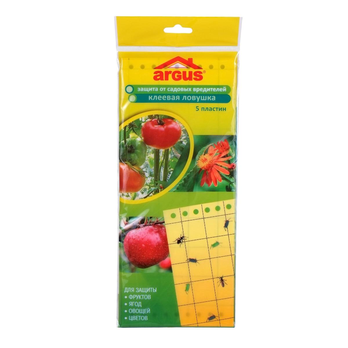 """Защита клеевая от садовых вредителей """"Argus"""", пластины, 5 шт"""