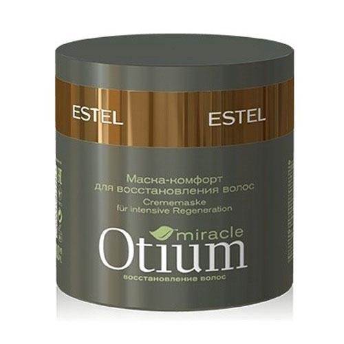 Estel Otium Miracle Маска-комфорт для восстановления волос 300 млОТ.110Estel Otium Miracle Маска - комфорт для сильно поврежденных волос. Богатая кремовая маска с комплексом Mirаcle Revivаl и ланолином интенсивно восстанавливает структуру ломких и повреждённых волос, возвращает им природную эластичность и упругость, повышает прочность. Обеспечивает долговременный уход и внутреннее восстановление волос. Придаёт блеск, облегчает расчёсывание.