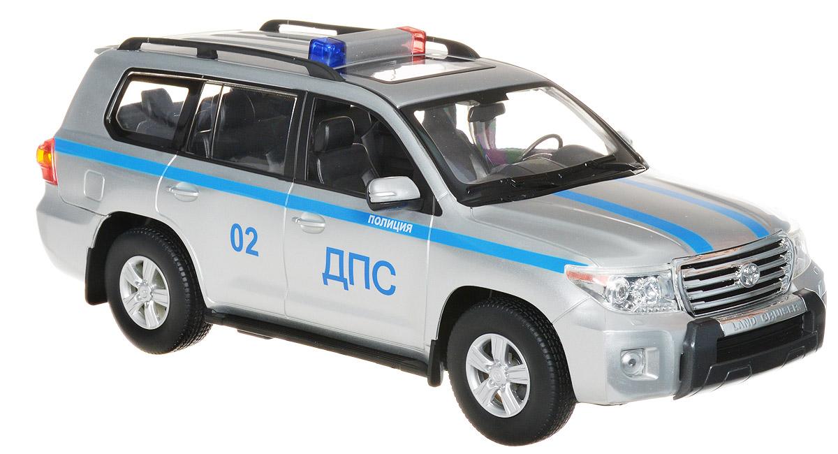 Rastar Радиоуправляемая модель Toyota Land Cruiser ДПС 0250200-52Радиоуправляемая модель Rastar Toyota Land Cruiser ДПС 02 обязательно привлечет внимание взрослого и ребенка и понравится любому, кто увлекается автомобилями. Обладает неповторимым стилем и спортивным характером. А серьезные габариты придают реалистичность в управлении. Машина отличается потрясающей маневренностью, динамикой и покладистостью. Это точная копия настоящего авто в масштабе 1:16. Возможные движения: вперед-назад, вправо-влево, остановка. Имеются световые и звуковые эффекты. Пульт управления работает на частоте 40 MHz. Радиоуправляемые игрушки способствуют развитию координации движений, моторики и ловкости. Для работы машины необходимо купить 5 батареек типа АА (не входят в комплект). Для работы пульта управления необходимо купить батарейку 9V типа Крона (не входит в комплект).