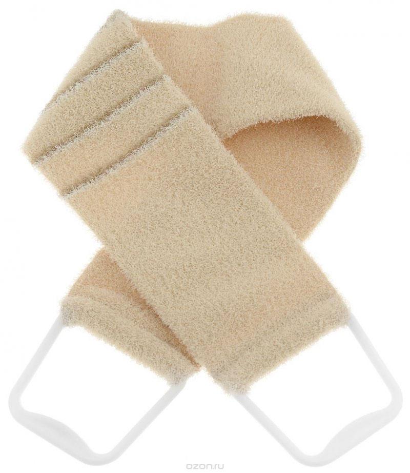 Мочалка 824, молочный с полосками824_молочный с полоскамиМочалка-пояс Riffi используется для мытья тела, обладает активным пилинговым действием, тонизируя, массируя и эффективно очищая вашу кожу. Хлопковая основа придает мочалке высокие моющие свойства, а примесь жестких синтетических волокон усиливает ее массажное воздействие на кожу. Для удобства применения пояс снабжен двумя пластиковыми ручками. Благодаря отшелушивающему эффекту мочалки-пояса, кожа освобождается от отмерших клеток, становится гладкой, упругой и свежей. Массаж тела с применением «Riffi» стимулирует кровообращение, активирует кровоснабжение, способствует обмену веществ, что в свою очередь позволяет себя чувствовать бодрым и отдохнувшим после принятия душа или ванны. «Riffi» регенерирует кожу, делает ее приятно нежной, мягкой и лучше готовой к принятию косметических средств. Приносит приятное расслабление всему организму. Борется со спазмами и болями в мышцах, предупреждает образование целлюлита и обеспечивает омолаживающий эффект. Моет легко и энергично.