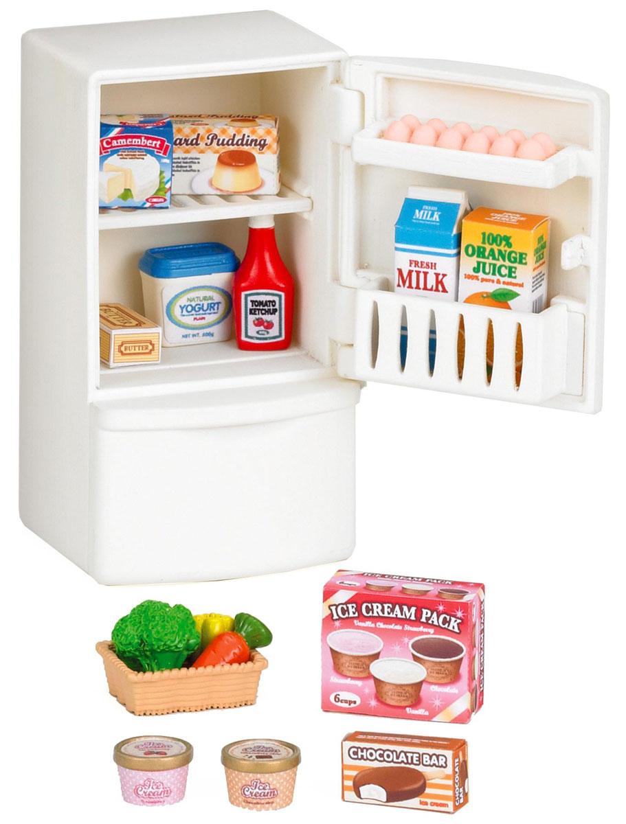 Sylvanian Families Игровой набор Холодильник с продуктами3566Игровой набор Sylvanian Families Холодильник с продуктами привлечет внимание вашей малышки и не позволит ей скучать. Набор включает в себя холодильник, продукты и наклейки на продукты. Холодильник оснащен открывающейся дверцей и вынимающейся морозильной камерой. Ваша малышка будет часами играть с набором, придумывая различные истории. Sylvanian Families - это целый мир маленьких жителей, объединенных общей легендой. Жители страны Sylvanian Families - это кролики, белки, медведи, лисы и многие другие. У каждого из них есть дом, в котором есть все необходимое для счастливой жизни. В городе, где живут герои, есть школа, больница, рынок, пекарня, детский сад и множество других полезных объектов. Жители этой страны живут семьями, в каждой из которой есть дети. В домах Sylvanian Families царит уют и гармония. Домашние животные радуют хозяев. Здесь продумана каждая мелочь, от одежды до мебели и аксессуаров.