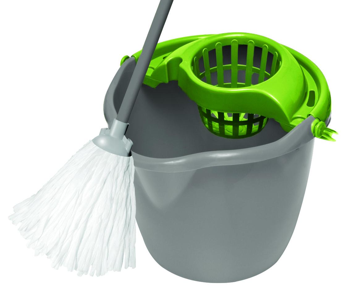 Набор для уборки York Mop Set, цвет: серый, салатовый, 3 предмета7205Набор для уборки York состоит из рукоятки для швабры и ведра с отжимом и предназначен для уборки любых типов напольных покрытий, включая паркет и ламинат. Рукоятка York изготовлена из металла с пластиковым покрытием по всей длине. Изделие оснащено специальным отверстием, которое позволит повесить его на крючок. Универсальная резьба подходит ко всем швабрам и щеткам. Благодаря специальному ведру со встроенным отжимом, уборка станет быстрой и гигиеничной, так как вы сможете выжимать швабру в предназначенном для этого ведре, не пачкая руки. Ведро оснащено пластиковой ручкой. Такой набор сделает уборку легкой и обеспечит идеальную чистоту вашего пола без разводов и царапин. Насадка в комплект не входит. Размер ведра по верхнему краю: 30 х 31 см. Высота ведра: 25 см. Объем ведра: 12 л. Длина черенка: 108 см. Диаметр черенка: 1,8 см.