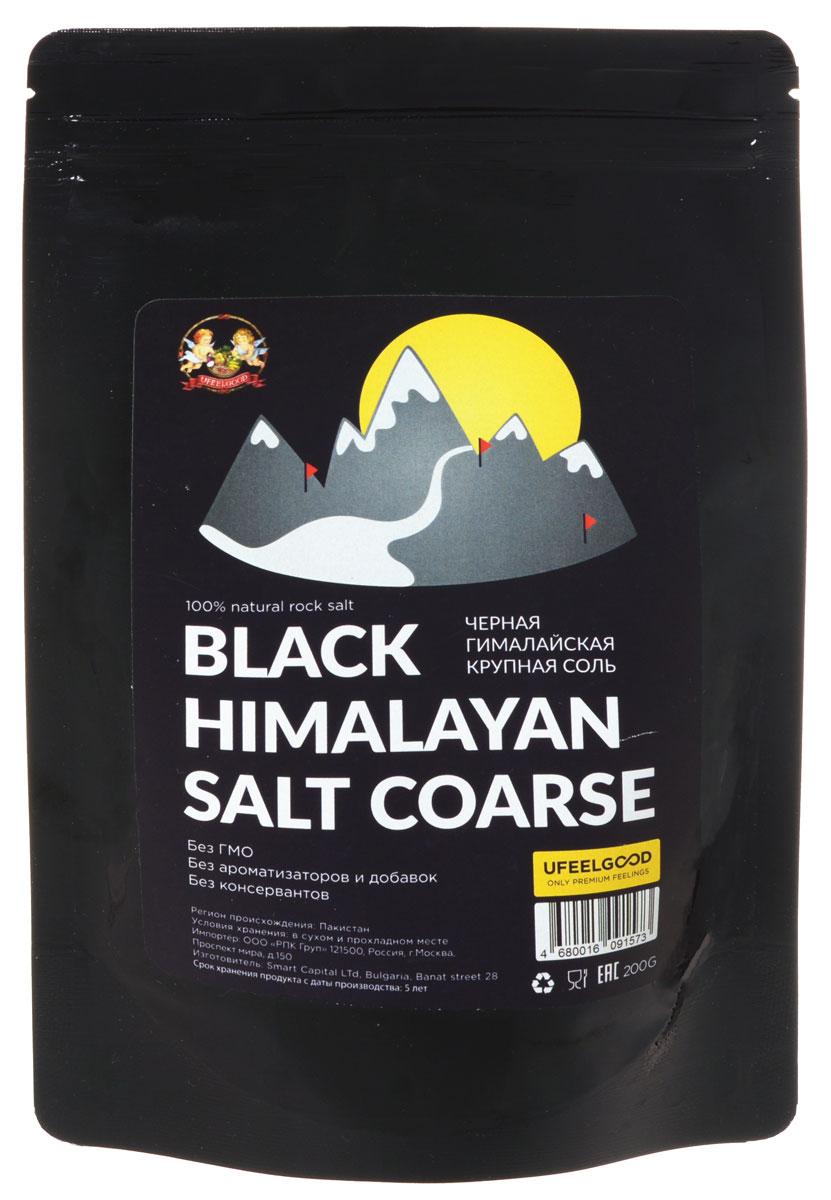 UFEELGOOD Black Himalayan Salt Coarse черная гималайская крупная соль, 200 г