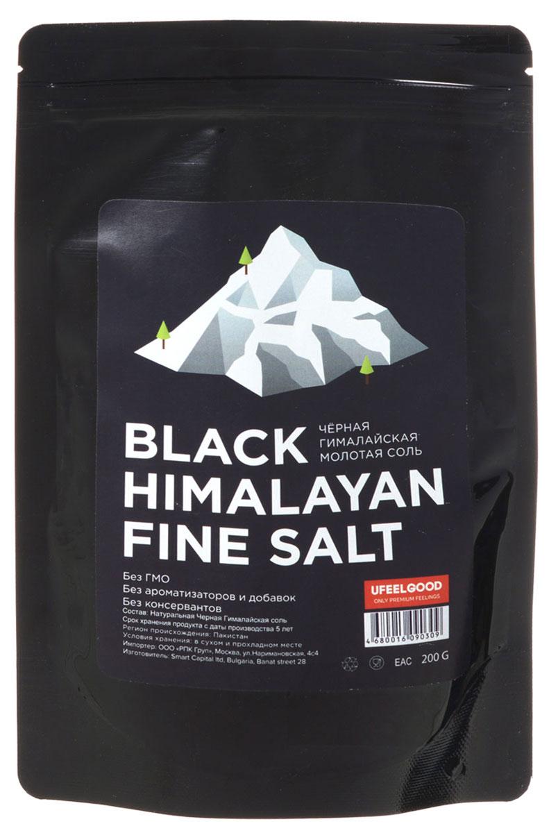 UFEELGOOD Black Himalayan Fine Salt черная гималайская молотая соль, 200 г
