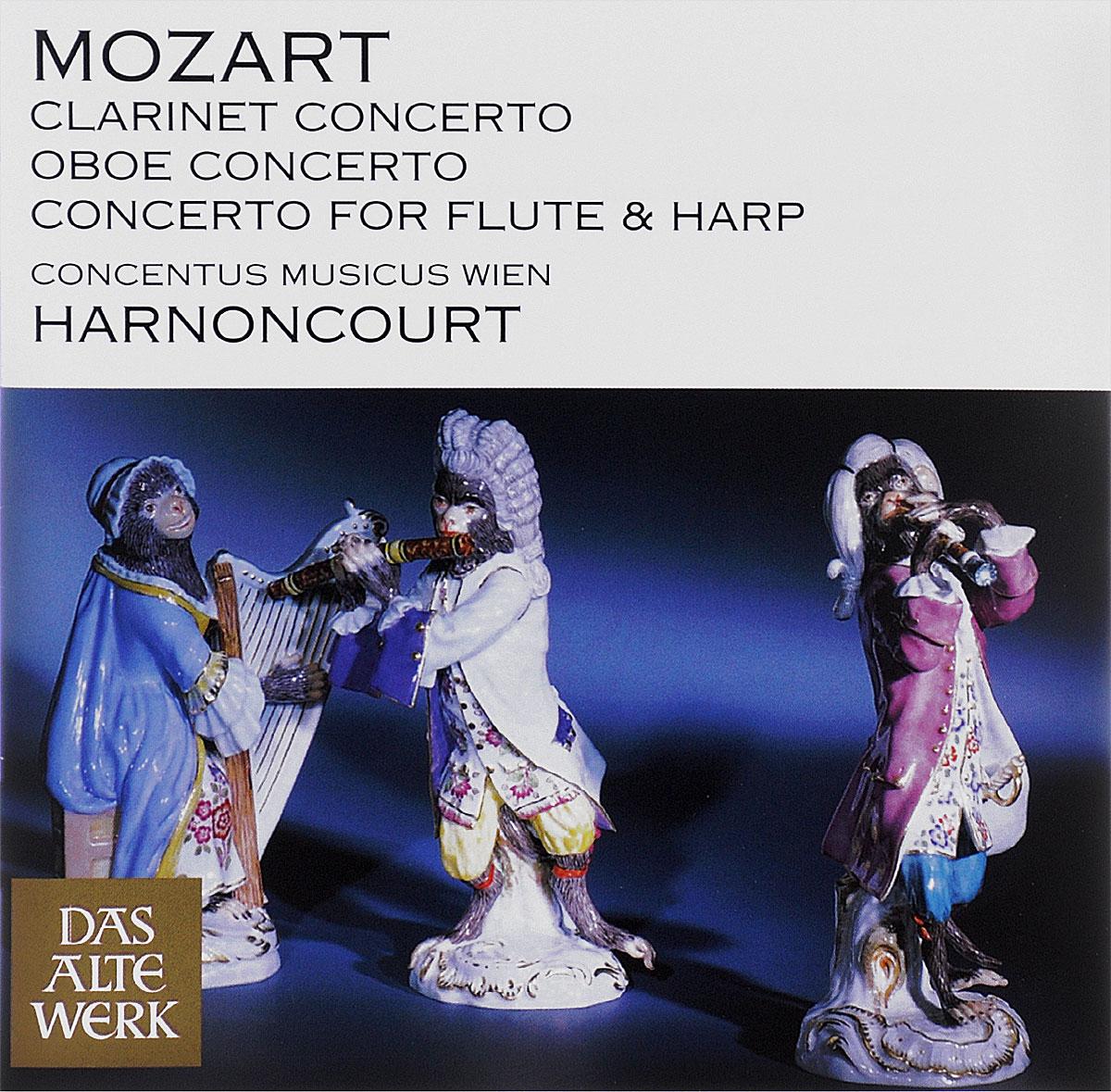 Nikolaus Harnoncourt. Wolfgang Amadeus Mozart. Clarinet Concerto / Oboe Concerto / Concerto For Flute & Harp