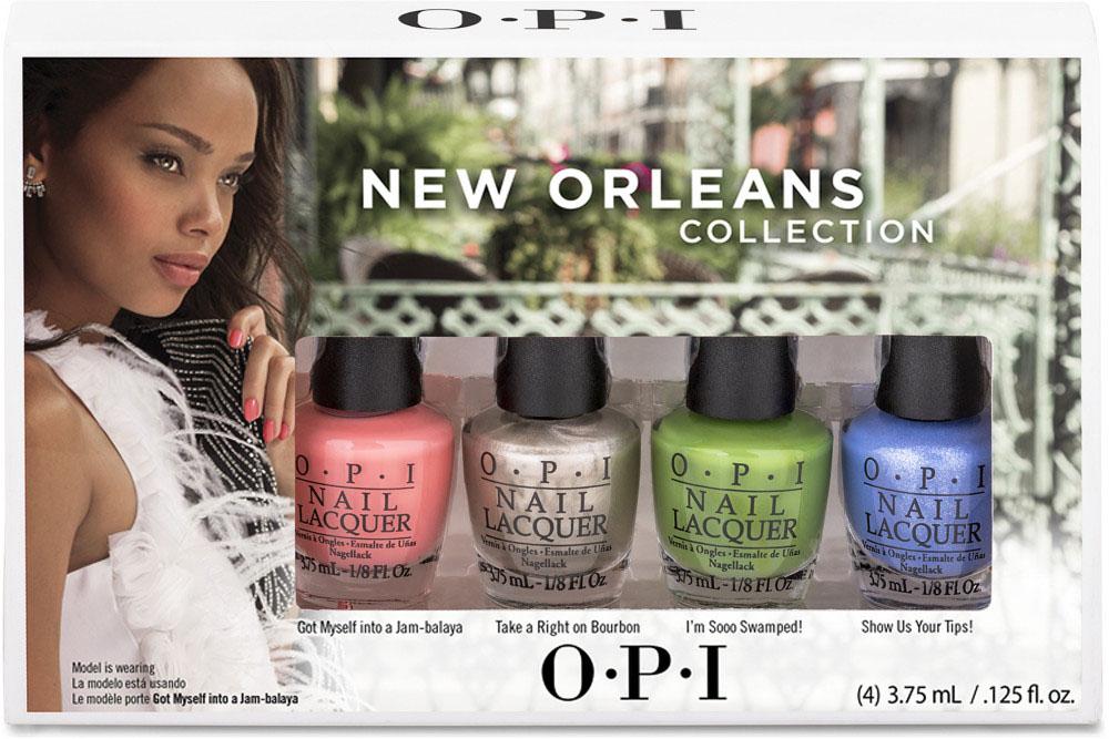OPI Коллекция MINI лаков New Orleans By OPI, 4 х 3,75 млDCN23Весеняя коллекция лаков для ногтей New Orleans by OPI погружает нас в атмосферу тепла и света. Яркие оттенки напоминают о весне и заставляют улыбаться. Почувствуйте наступление весны с лаками OPI! Лак для ногтей OPI быстросохнущий, содержит натуральный шелк и аминокислоты. Увлажняет и ухаживает за ногтями. Форма флакона, колпачка и кисти специально разработаны для удобного использования и запатентованы.