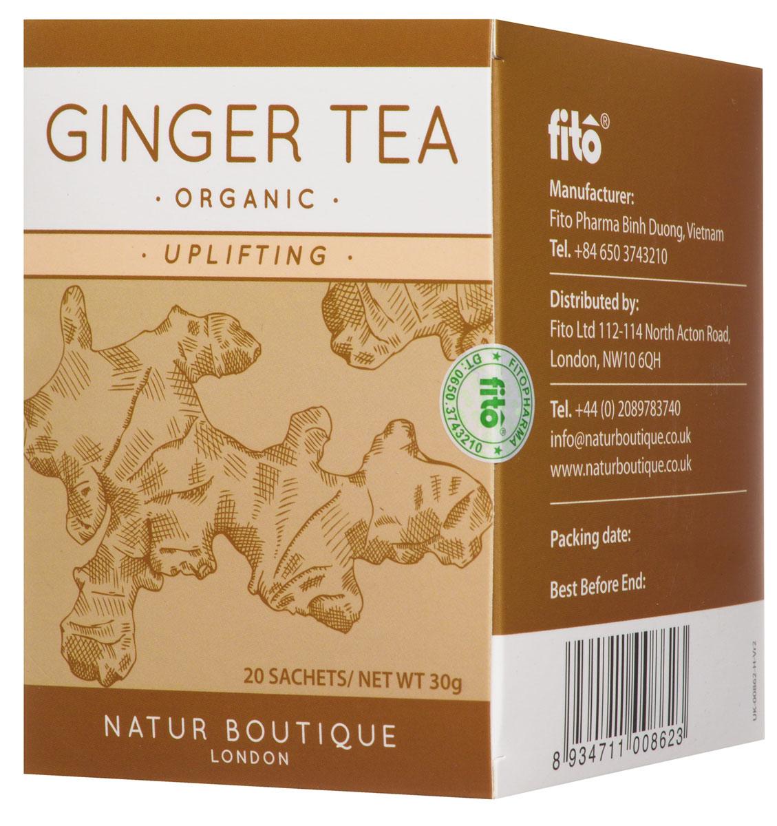 Natur Boutique Ginger Organic Tea органический чай имбирь, 20 пакетиков 253