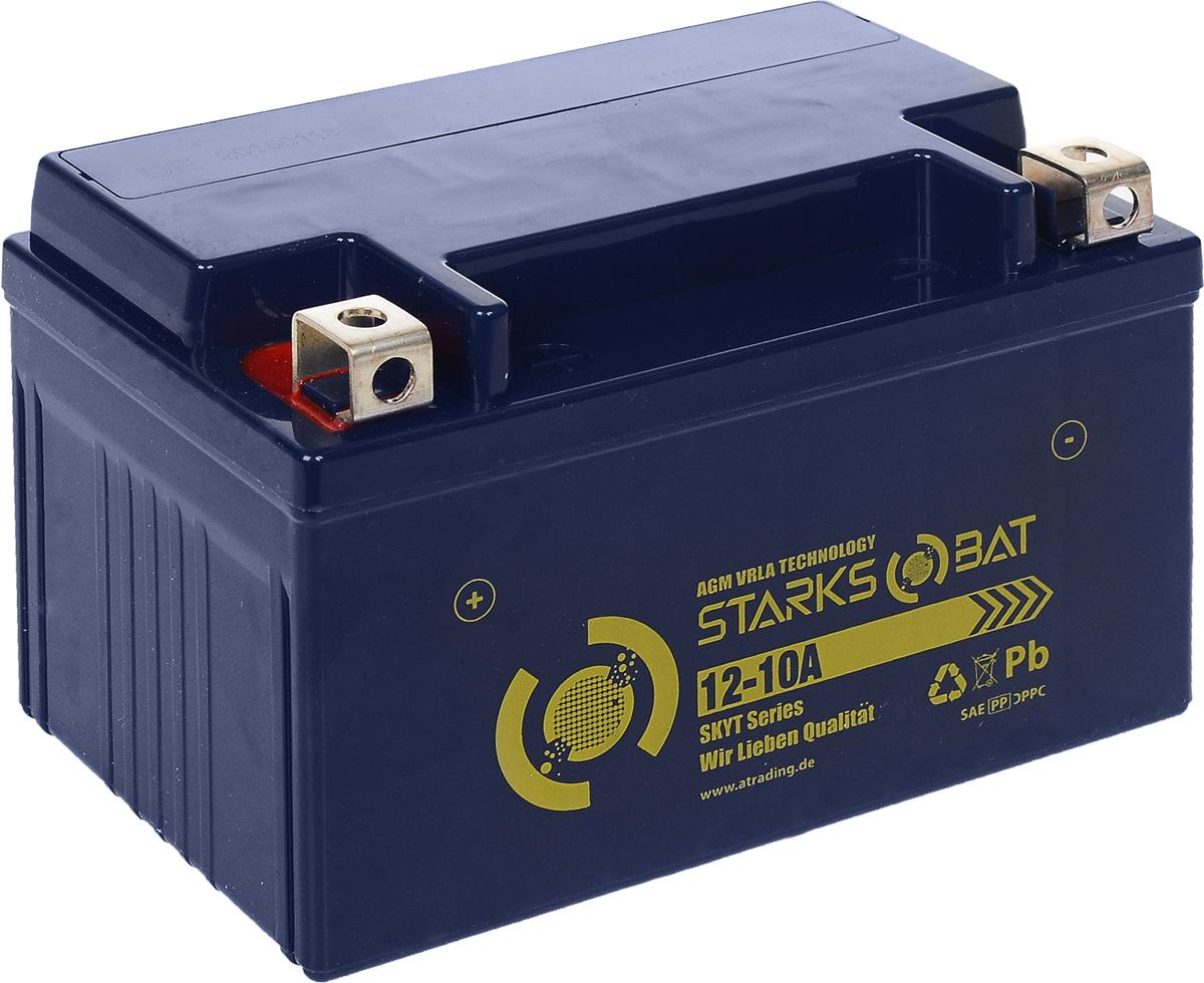 "Батарея аккумуляторная для мотоциклов ""Starksbat"". YT 12-10A (YTZ10S)"