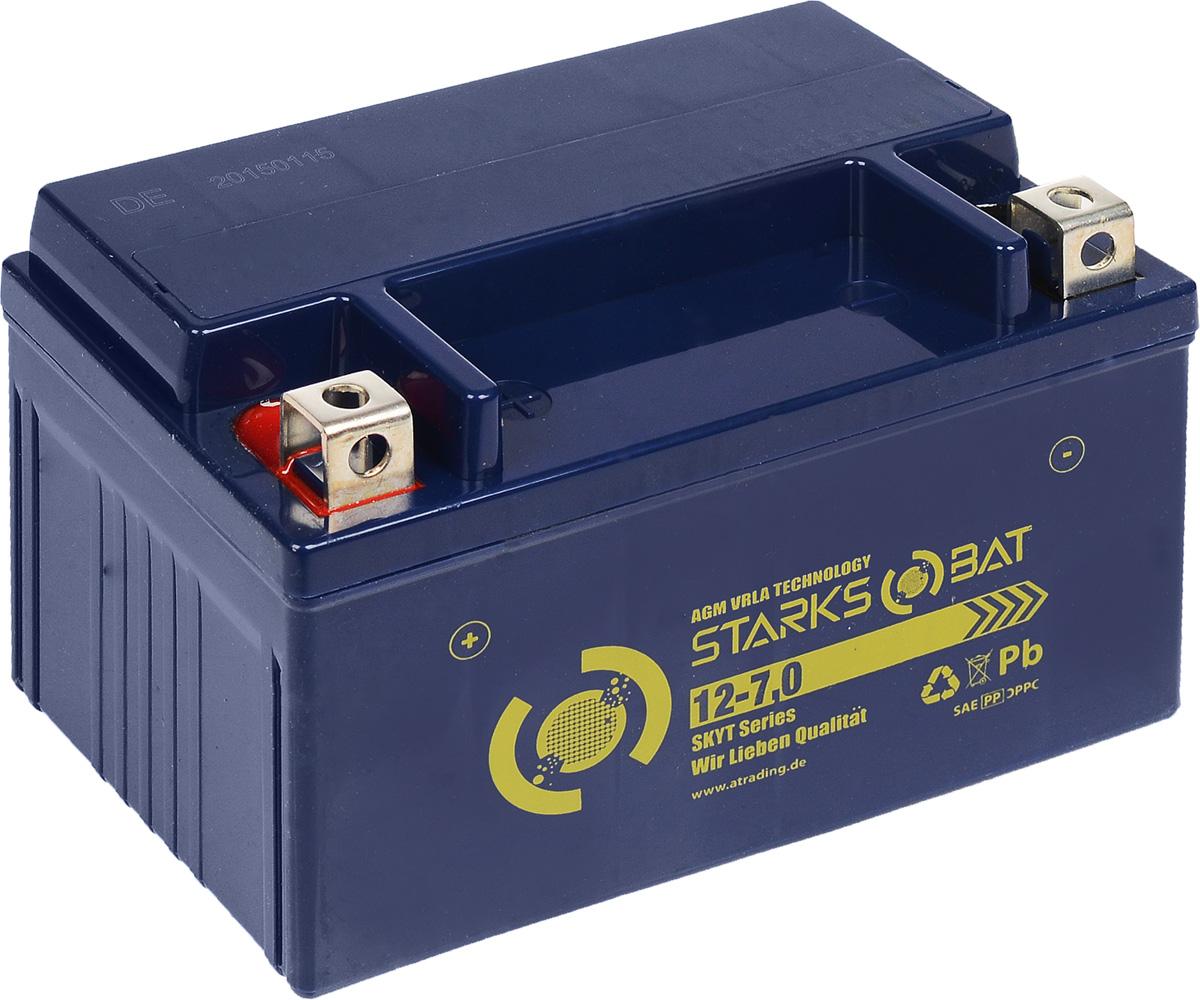 Батарея аккумуляторная для мотоциклов Starksbat. YT 12-7.0 (YTX7A-BS)