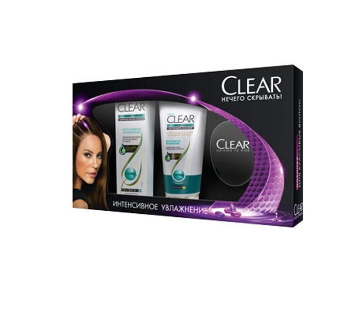 Clear Подарочный набор: Интенсивное увлажнение: Шампунь 200мл + Бальзам 180мл + Расческа67035361Шампунь Интенсивное увлажнение помогает активировать естественную защиту кожи головы. Больше не нужно беспокоиться о перхоти! Поддерживает естественный уровень увлажнения кожи головы и волос. Ежедневная программа ухода с экстрактом кактуса для увлажнения кожи головы и красоты ваших волос. Для сухих волос и кожи головы. Важно знать: увлажнение кожи головы является ключевым фактором в борьбе с перхотью. Clear Интенсивное увлажнение помогает создать условия для увлажнения кожи головы, а значит, для красивых волос без перхоти. Применение: 1. После мытья волос шампунем нанесите массирующими движениями на кожу головы для восстановления необходимого уровня увлажненности. 2. Для увлажнения и красоты волос распределите средство от корней до кончиков, затем смойте. 3. Используйте ежедневно вместе с шампунем CLEAR Интенсивное Увлажнение для наилучшего результата.